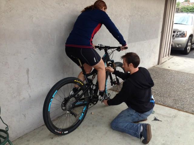 Elaine mountain bike fitting